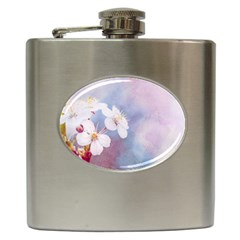Pink Mist Of Sakura Hip Flask (6 Oz) by FunnyCow