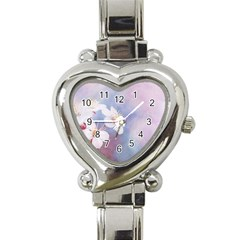 Pink Mist Of Sakura Heart Italian Charm Watch by FunnyCow