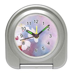 Pink Mist Of Sakura Travel Alarm Clock by FunnyCow