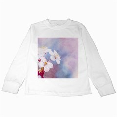 Pink Mist Of Sakura Kids Long Sleeve T Shirts by FunnyCow