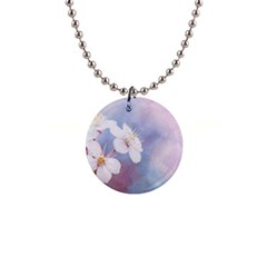 Pink Mist Of Sakura Button Necklaces
