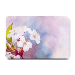 Pink Mist Of Sakura Small Doormat  by FunnyCow