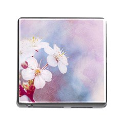 Pink Mist Of Sakura Memory Card Reader (square 5 Slot) by FunnyCow