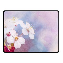 Pink Mist Of Sakura Fleece Blanket (small) by FunnyCow