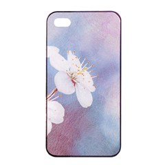 Pink Mist Of Sakura Apple Iphone 4/4s Seamless Case (black) by FunnyCow