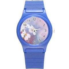 Pink Mist Of Sakura Round Plastic Sport Watch (s) by FunnyCow