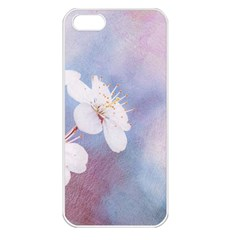 Pink Mist Of Sakura Apple Iphone 5 Seamless Case (white) by FunnyCow