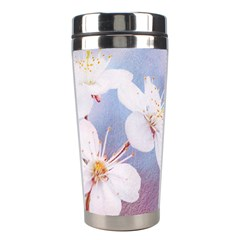 Pink Mist Of Sakura Stainless Steel Travel Tumblers by FunnyCow