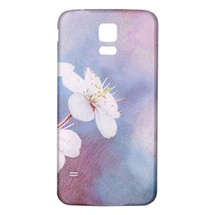 Pink Mist Of Sakura Samsung Galaxy S5 Back Case (white) by FunnyCow