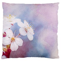 Pink Mist Of Sakura Large Flano Cushion Case (one Side) by FunnyCow