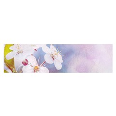Pink Mist Of Sakura Satin Scarf (oblong) by FunnyCow