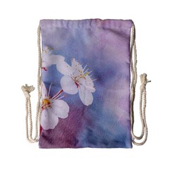 Pink Mist Of Sakura Drawstring Bag (small) by FunnyCow