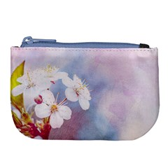 Pink Mist Of Sakura Large Coin Purse by FunnyCow