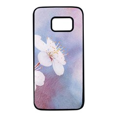 Pink Mist Of Sakura Samsung Galaxy S7 Black Seamless Case by FunnyCow