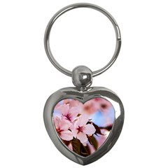 Three Sakura Flowers Key Chains (heart)  by FunnyCow