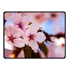 Three Sakura Flowers Fleece Blanket (small) by FunnyCow