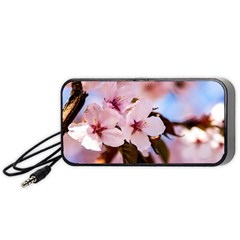 Three Sakura Flowers Portable Speaker by FunnyCow