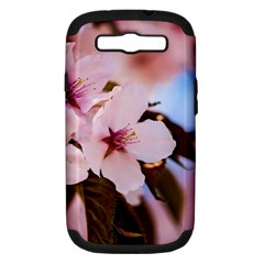 Three Sakura Flowers Samsung Galaxy S Iii Hardshell Case (pc+silicone) by FunnyCow