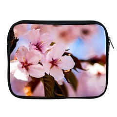 Three Sakura Flowers Apple Ipad 2/3/4 Zipper Cases by FunnyCow