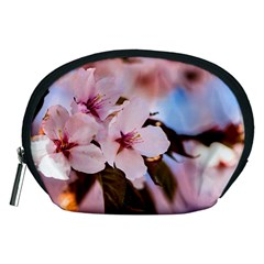 Three Sakura Flowers Accessory Pouches (medium)  by FunnyCow