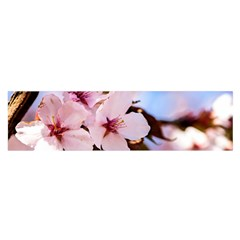 Three Sakura Flowers Satin Scarf (oblong) by FunnyCow