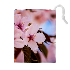 Three Sakura Flowers Drawstring Pouches (extra Large) by FunnyCow