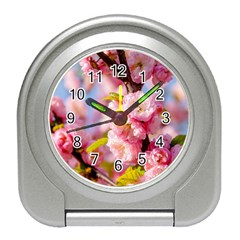 Flowering Almond Flowersg Travel Alarm Clock by FunnyCow