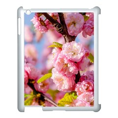 Flowering Almond Flowersg Apple Ipad 3/4 Case (white) by FunnyCow