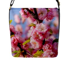 Flowering Almond Flowersg Flap Messenger Bag (l)  by FunnyCow