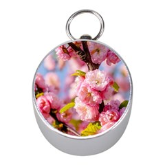 Flowering Almond Flowersg Mini Silver Compasses by FunnyCow