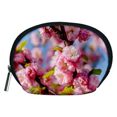 Flowering Almond Flowersg Accessory Pouches (medium)  by FunnyCow