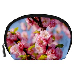 Flowering Almond Flowersg Accessory Pouches (large)  by FunnyCow