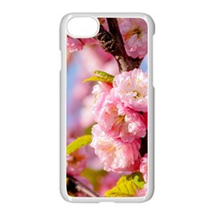 Flowering Almond Flowersg Apple Iphone 7 Seamless Case (white) by FunnyCow
