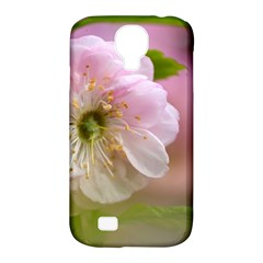 Single Almond Flower Samsung Galaxy S4 Classic Hardshell Case (pc+silicone) by FunnyCow