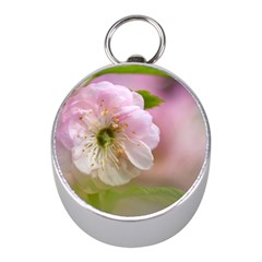 Single Almond Flower Mini Silver Compasses by FunnyCow