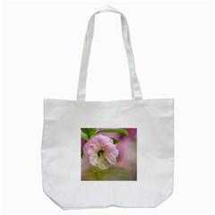 Single Almond Flower Tote Bag (white) by FunnyCow