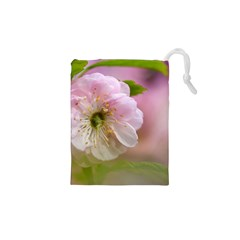 Single Almond Flower Drawstring Pouches (xs)  by FunnyCow