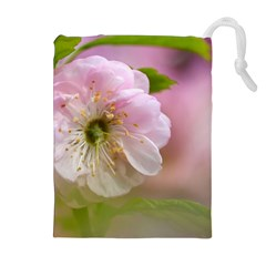 Single Almond Flower Drawstring Pouches (extra Large) by FunnyCow