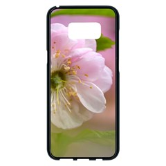 Single Almond Flower Samsung Galaxy S8 Plus Black Seamless Case by FunnyCow