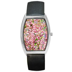 Almond Tree In Bloom Barrel Style Metal Watch by FunnyCow