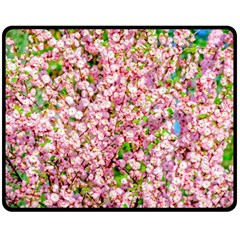 Almond Tree In Bloom Double Sided Fleece Blanket (medium)  by FunnyCow
