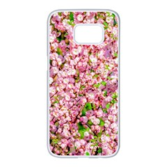 Almond Tree In Bloom Samsung Galaxy S7 Edge White Seamless Case by FunnyCow