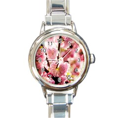 Blooming Almond At Sunset Round Italian Charm Watch by FunnyCow