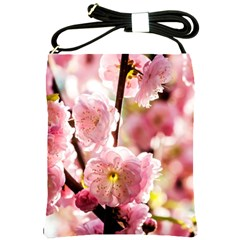 Blooming Almond At Sunset Shoulder Sling Bags by FunnyCow