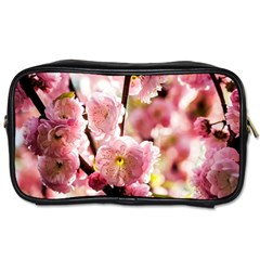 Blooming Almond At Sunset Toiletries Bags by FunnyCow