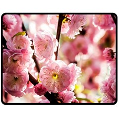 Blooming Almond At Sunset Fleece Blanket (medium)  by FunnyCow