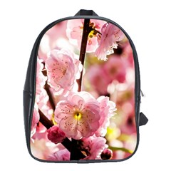 Blooming Almond At Sunset School Bag (xl) by FunnyCow