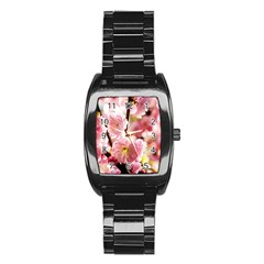 Blooming Almond At Sunset Stainless Steel Barrel Watch by FunnyCow