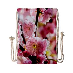 Blooming Almond At Sunset Drawstring Bag (small) by FunnyCow
