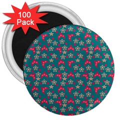 Teal Hats 3  Magnets (100 Pack) by snowwhitegirl